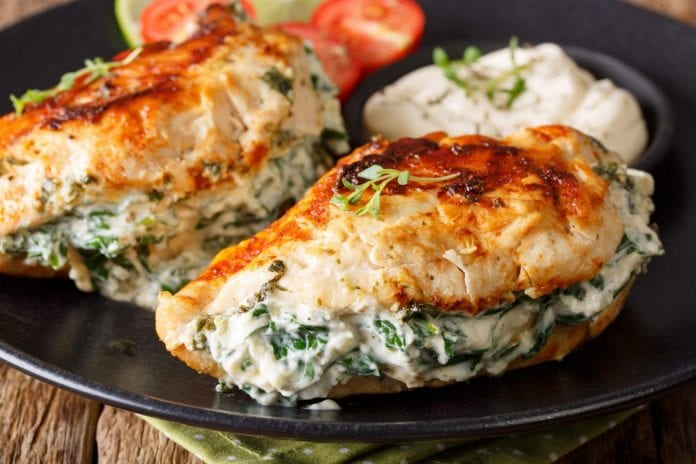 keto stuffed chicken breast