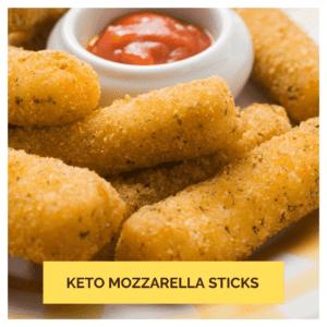 Keto Snack Mozzarella Sticks